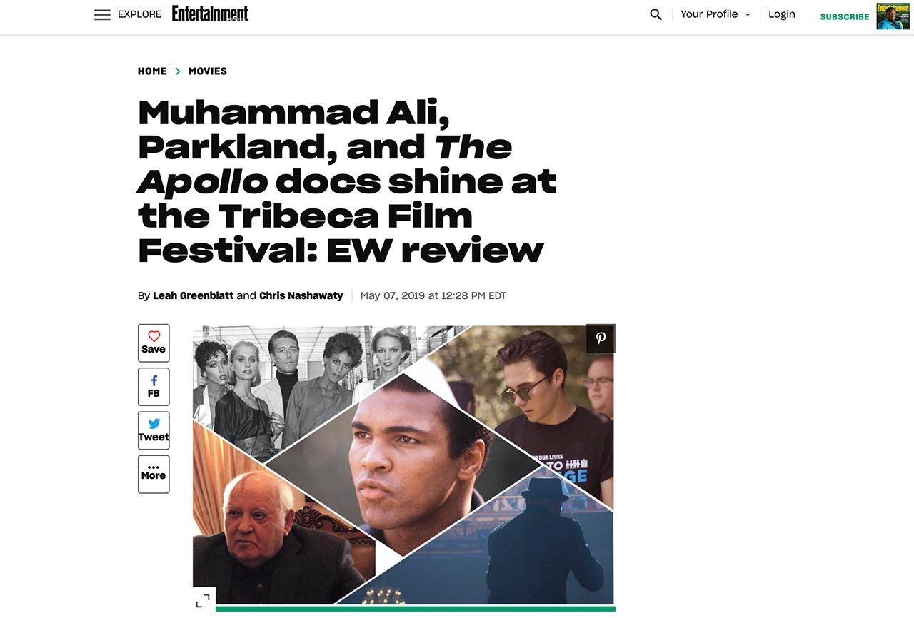 'The Apollo' doc shines at the Tribeca Film Festival: EW review