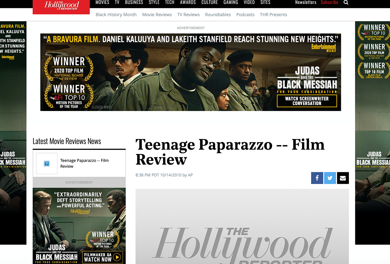 Teenage Paparazzo – Film Review