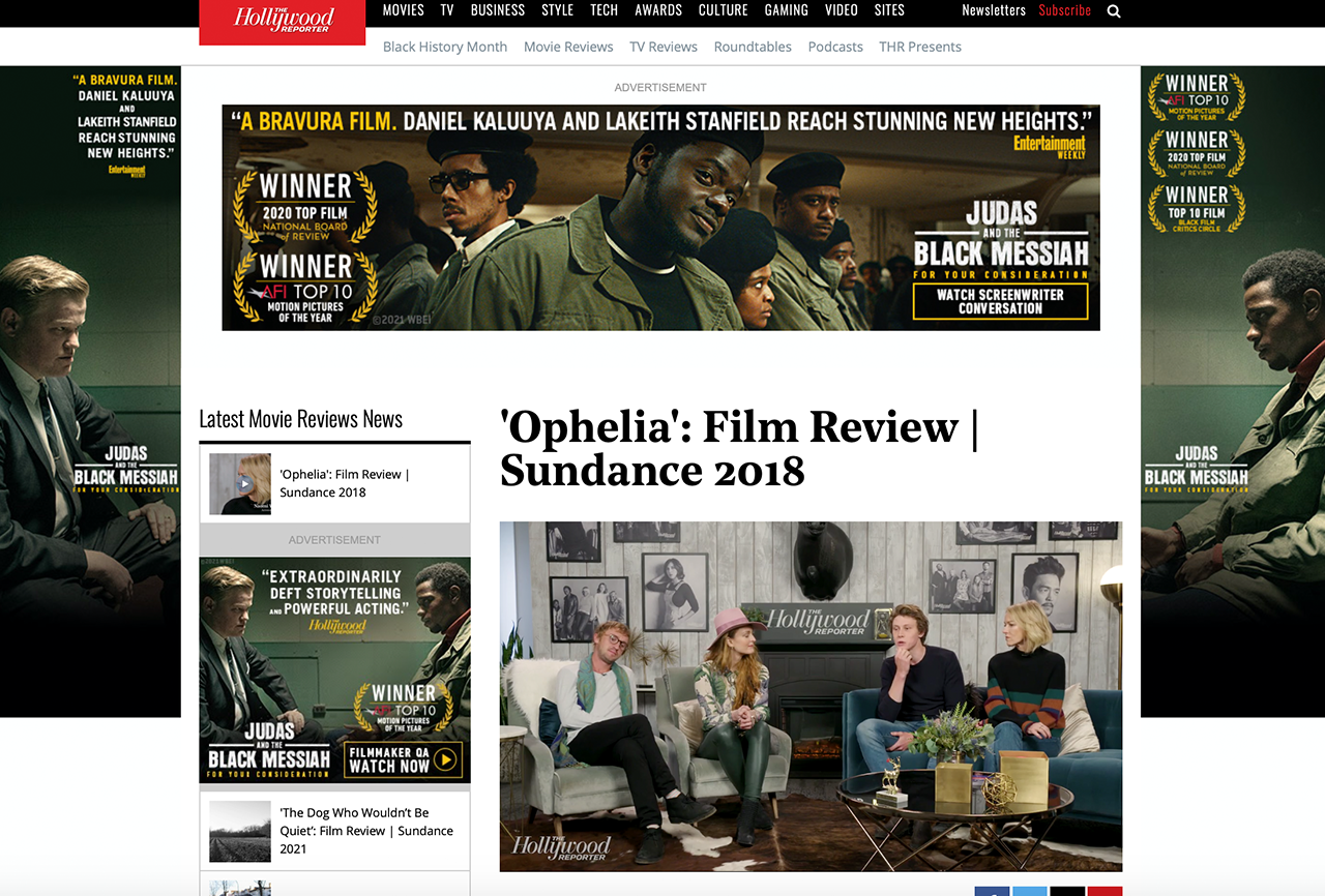'OPHELIA': FILM REVIEW | SUNDANCE 2018
