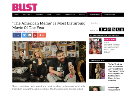 """""""The American Meme"""" Is Most Disturbing Movie Of The Year"""