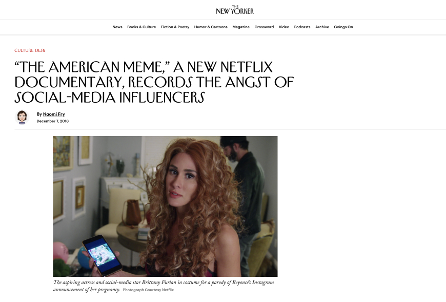 """""""The American Meme,"""" a New Netflix Documentary, Records the Angst of Social-Media Influencers"""