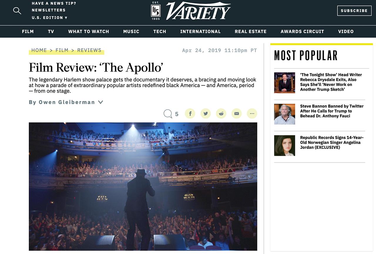 Film Review – 'The Apollo'